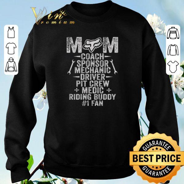 Awesome Fox Racing Mom Coach Sponsor Mechanic Driver Pit Crew Medic shirt sweater