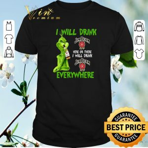 Awesome Grinch i will drink Jim Beam here or there i will drink Jim Beam shirt sweater