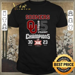 Awesome Oklahoma Sooners 5 Straight Champions Dr Pepper 30 23 shirt sweater