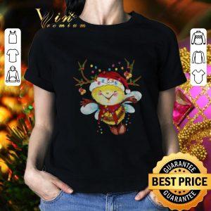 Awesome Santa Bee Reindeer Light Christmas shirt