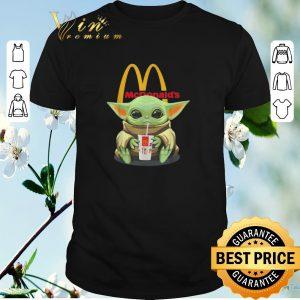 Awesome Star Wars Baby Yoda hug McDonald Mandalorian shirt sweater