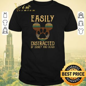 Awesome Vintage Mickey Easily distracted by Disney and dogs shirt