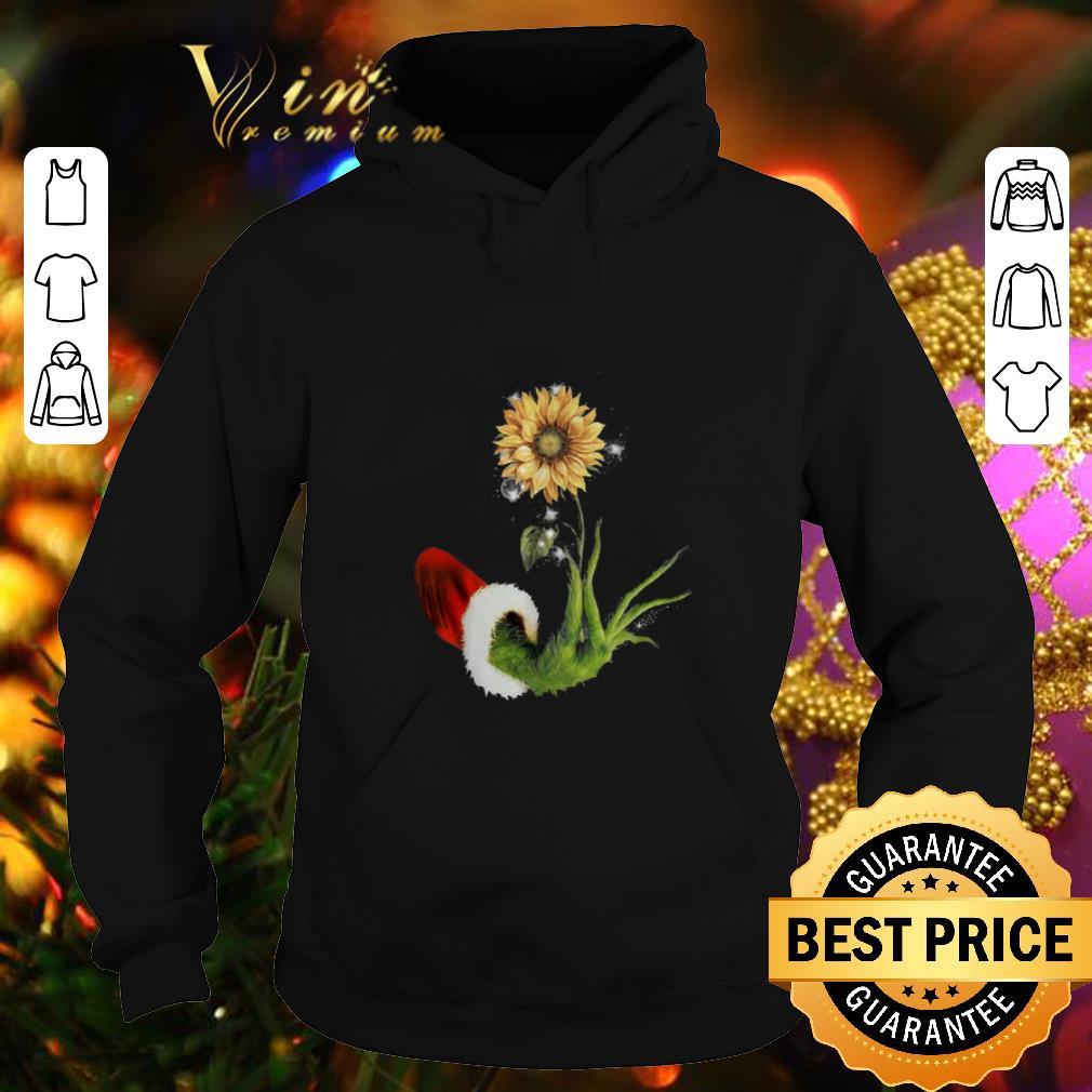 Best Grinch Santa hand holding sunflower shirt 4 - Best Grinch Santa hand holding sunflower shirt