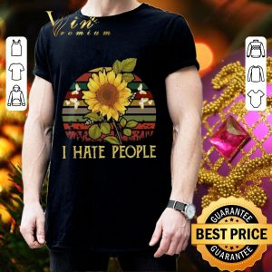 Best I hate people sunflower sunset vintage shirt 2