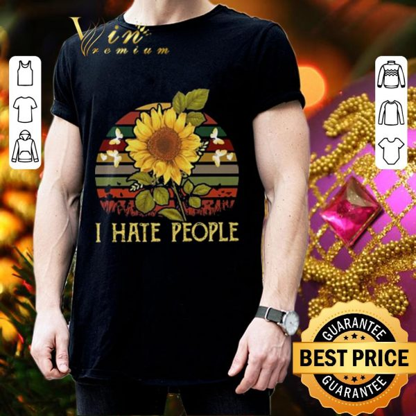 Best I hate people sunflower sunset vintage shirt