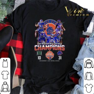 Boise State Broncos signed 2019 Mountain West Football Champions shirt sweater