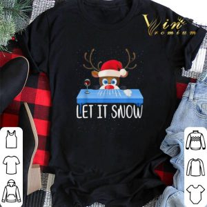 Christmas Santa Reindeer Walmart Cocaine Let It Snow shirt