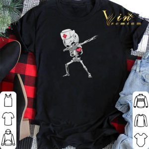 Dabbing Skeleton Nurse X-ray Halloween shirt sweater