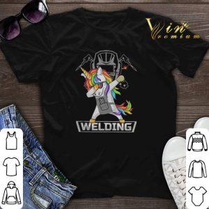Dabbing Unicorn Welding shirt sweater