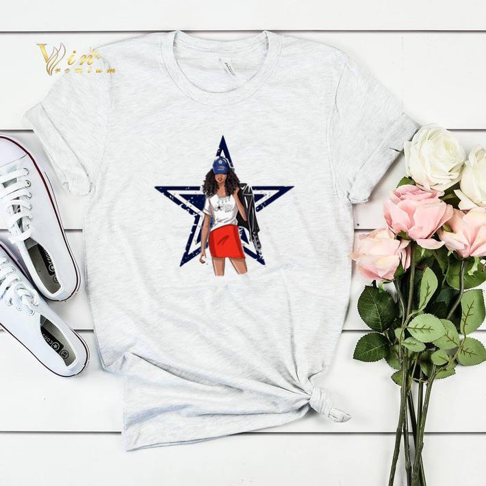 Dallas Cowboys girl fan shirt sweater 4 - Dallas Cowboys girl fan shirt sweater