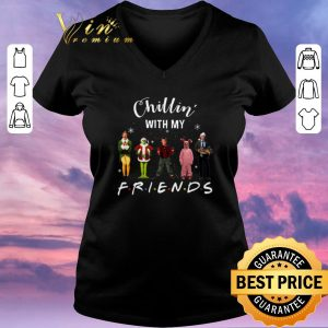 Funny Chillin' with my Friends Grinch Elf Home Alone Characters shirt sweater