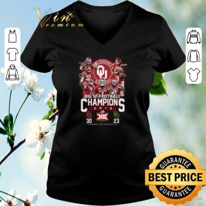 Funny Oklahoma Sooners signatures Big 12 Football Champions 2019 shirt sweater