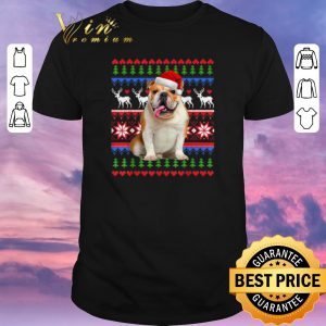 Funny Ugly Christmas Santa English Bulldog shirt