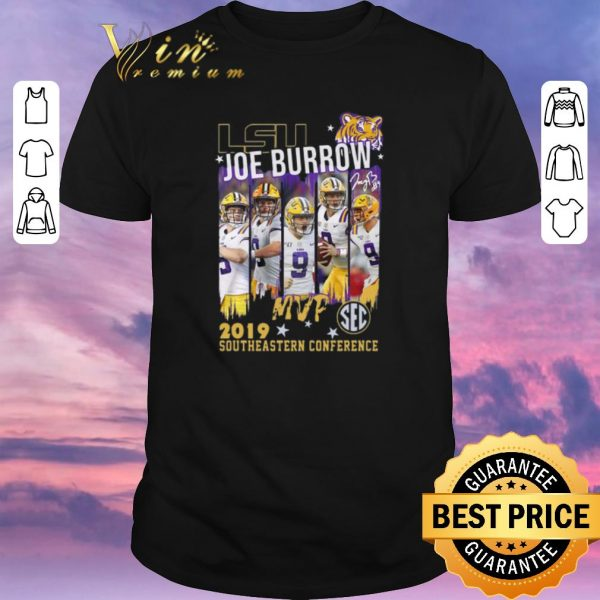 Hot Lsu Joe Burrow MVp 2019 southeastern Conference shirt sweater