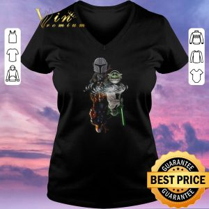 Hot The Mandalorian water mirror reflection Baby Yoda Boba Fett shirt sweater