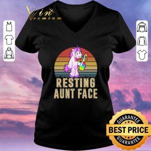 Hot Unicorn Resting Aunt Face Vintage shirt sweater