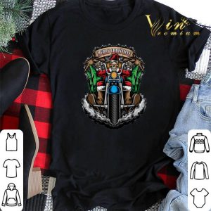 Merry Christmas Santa Skull Biker shirt
