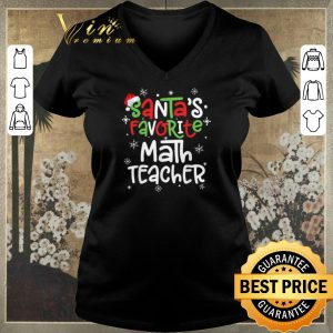 Nice Santa's favorite math teacher Christmas shirt sweater