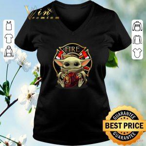Official Baby Yoda hug firefighter captain hat shirt sweater
