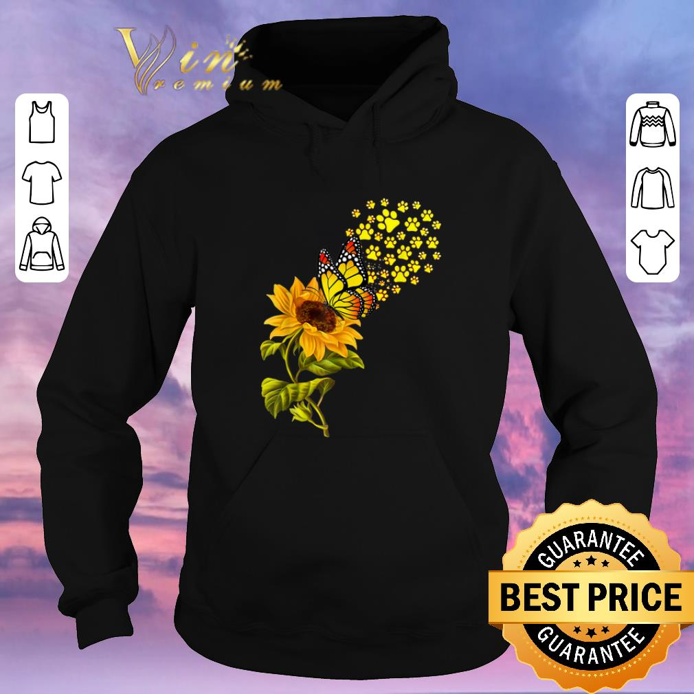 Official Dog Paw Sunflower And Butterfly shirt sweater 4 - Official Dog Paw Sunflower And Butterfly shirt sweater