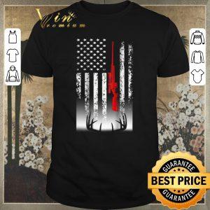Official american flag sniper deer hunting shirt