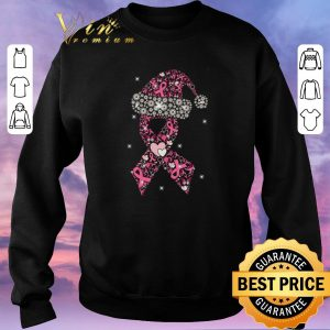 Original Breast Cancer Christmas Ribbon With Hat shirt sweater 2