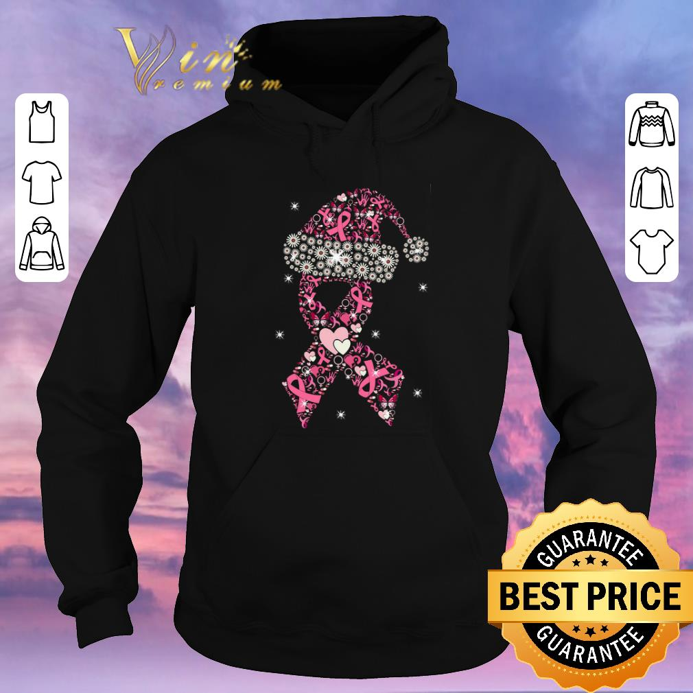Original Breast Cancer Christmas Ribbon With Hat shirt sweater 4 - Original Breast Cancer Christmas Ribbon With Hat shirt sweater
