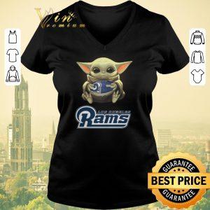 Original Star Wars Baby Groot hug Los Angeles Rams shirt