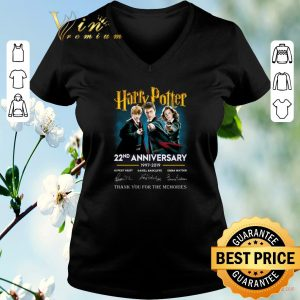 Original Thank you for the memories Harry Potter 22nd anniversary signed shirt
