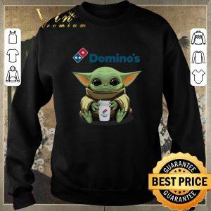 Premium Baby Yoda hug Domino's Pizza Star Wars Mandalorian shirt sweater 2
