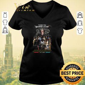 Premium Star Wars 1977 2020 Thank you George Lucas all signature shirt