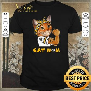 Pretty Green Bay Packers Strong Cat Mom shirt