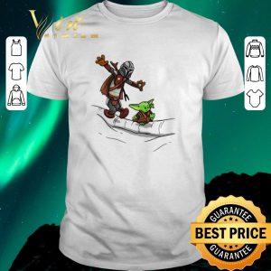 Pretty Mando and Baby Yoda Mandalorian shirt sweater