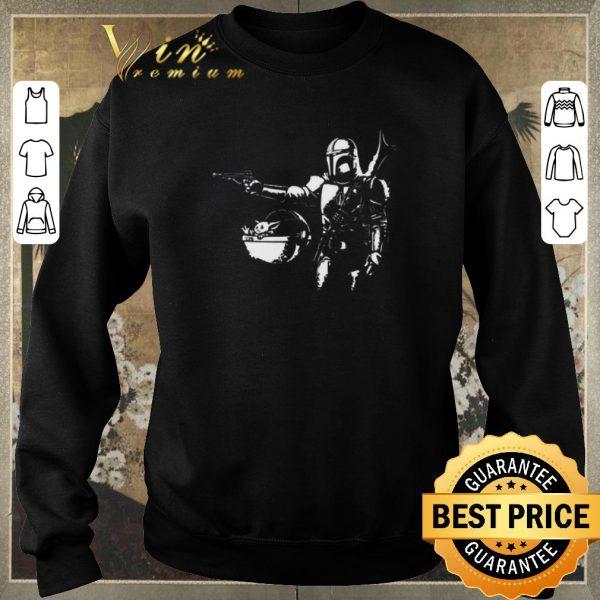 Pretty Pulp Fiction Pulp Mando The Mandalorian Baby Yoda shirt sweater