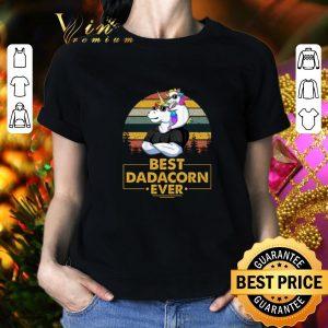 Pretty Unicorn best dadacorn ever vintage shirt