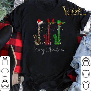 Saxophone Merry Christmas Santa Reindeer Elf shirt sweater
