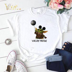 Star Wars Baby Yoda Mickey Vacay Mode Death shirt