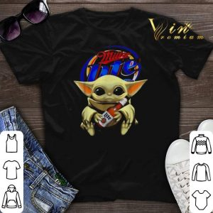 Star Wars Baby Yoda hug Miller Lite Beer Mandalorian shirt sweater