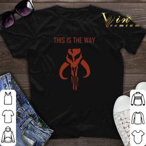 This is the way Mandalorian logo shirt sweater