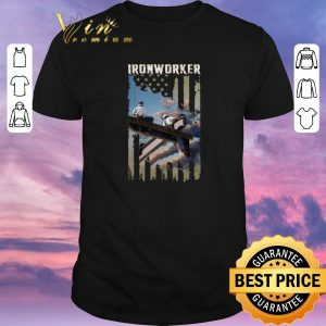Top American flag Ironworker shirt