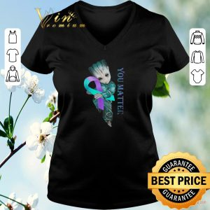 Top Baby Groot Suicide Prevention Awareness you matter shirt sweater