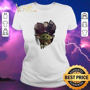 Top Baby Yoda The Mandalorian Torn Paper Star Wars shirt sweater