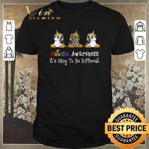 Top LGBT Unicorn Autism Awareness it's okay to be different shirt sweater