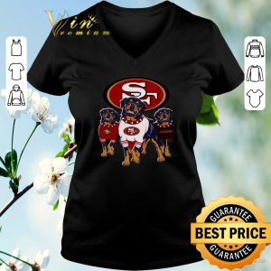 Top Rottweiler dogs San Francisco 49ers shirt sweater