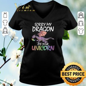 Top Sorry my dragon ate your unicorn LGBT shirt sweater