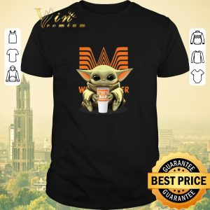 Top Star Wars Baby Yoda hold Whataburger Logo shirt