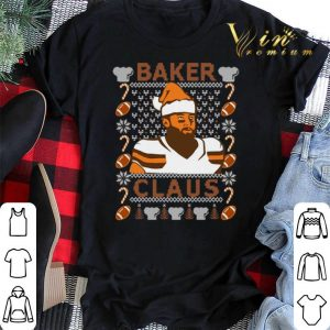 Ugly Christmas Baker Mayfield Baker Claus Cleveland Brown sweater 1