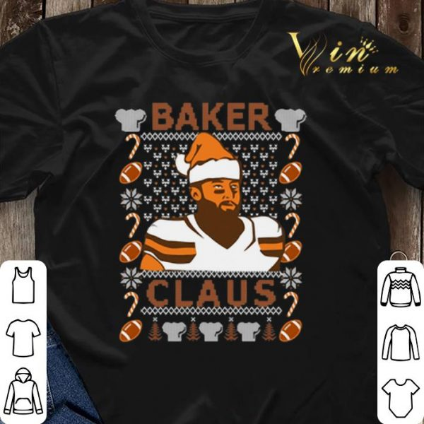 Ugly Christmas Baker Mayfield Baker Claus Cleveland Brown sweater