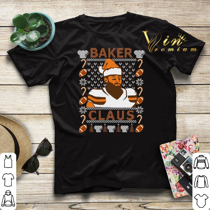 Ugly Christmas Baker Mayfield Baker Claus Cleveland Brown sweater 4 - Ugly Christmas Baker Mayfield Baker Claus Cleveland Brown sweater