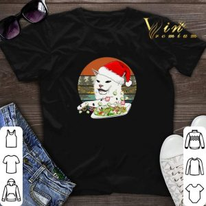 Vintage Santa Cat Woman Yelling At A Cat meme shirt